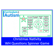 Christmas Nativity WH Questions Spinner Game