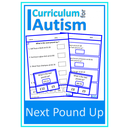 Next Pound Up Money Skills Worksheets & Clip Cards