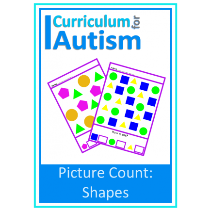 Shapes Picture Count 1-10 Autism Special Education Basic Concepts
