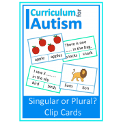 Singular or Plural Clip Cards