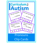 Pronouns Clip Cards