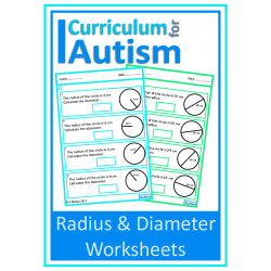 Radius & Diameter of Circles Geometry Worksheets