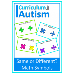 Same or Different Math Symbol Flashcards