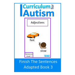 Finish The Sentences Interactive Book- Adjectives