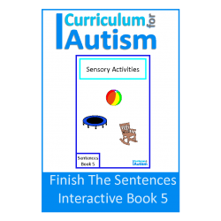 FREE Finish The Sentences Interactive Book- Sensory Activities