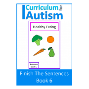 Finish The Sentences Interactive Book- Healthy Eating