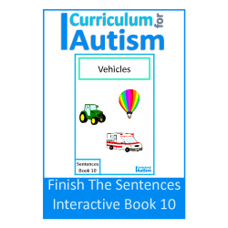 Finish The Sentences Interactive Book- Transportation