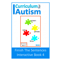 Finish The Sentences Interactive Book- Colors/Colours