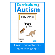 Finish The Sentences Interactive Book- Baby Animals