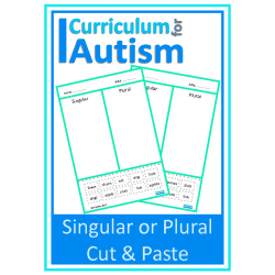 Singular or Plural Cut & Paste Worksheets