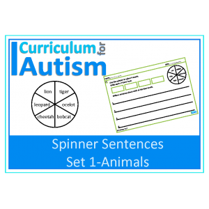 Writing Sentences with Spinners, Animal Theme