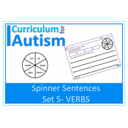 Writing Sentences- Spinner Sentences set 5- VERBS