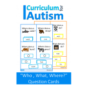 Who, What, Where Questions Task Cards