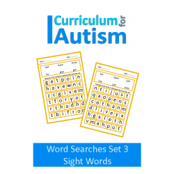 Large Print Wordsearch Puzzles- Sight Words