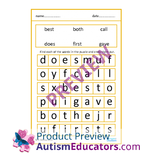photograph regarding Large Printable Word Search known as Huge Print Wordsearch Puzzles- Sight Words and phrases