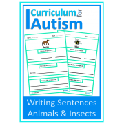 Writing Sentences with Picture Prompts- Animals & Insects