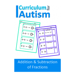 Addition & Subtraction of Fractions Worksheets (with scaffolding)