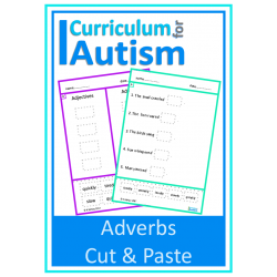 Adverbs Cut & Paste No Prep Worksheets