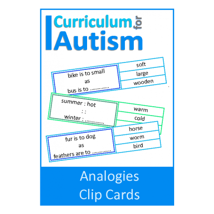 Analogies Clip Cards