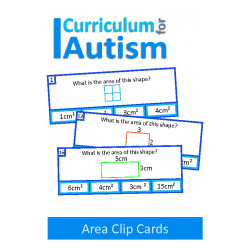 Area of Rectangles Clip Cards