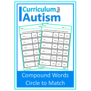Compound Words Vocabulary Match Worksheets