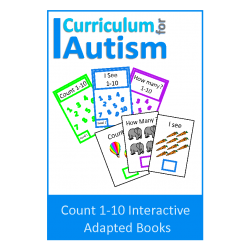 Count 1-10 Interactive Adapted Books set