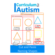 Cut and Paste Naming Shapes Worksheets