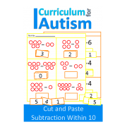 Cut and Paste Subtraction 1-10 Worksheets