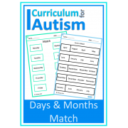 Days & Months Basic Matching Worksheets