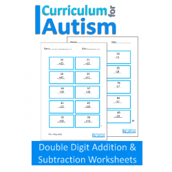 Double Digit Addition and Subtraction Worksheets