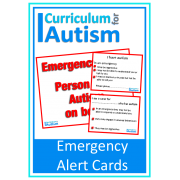 Autism Emergency Alert Cards
