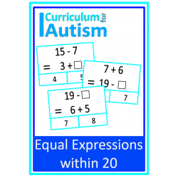Equal Expressions Addition Subtraction within 20