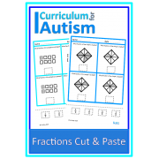 Simple Fractions Cut & Paste Worksheets