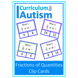 Fractions of Numbers Clip Cards