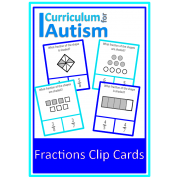 Simple Fractions of Shapes Clip Cards