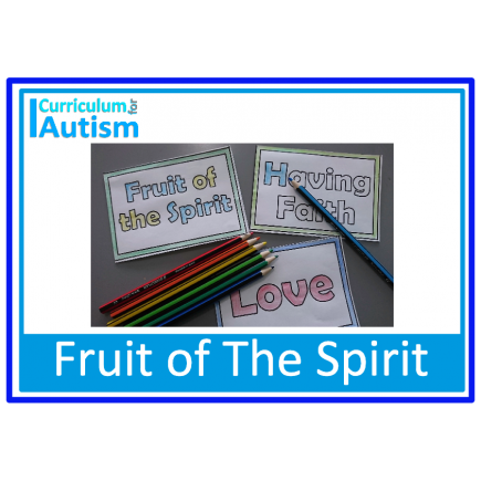 Fruit of The Spirit Mini Books for Sunday School