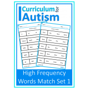 Reading High Frequency Words (Set 1) Match