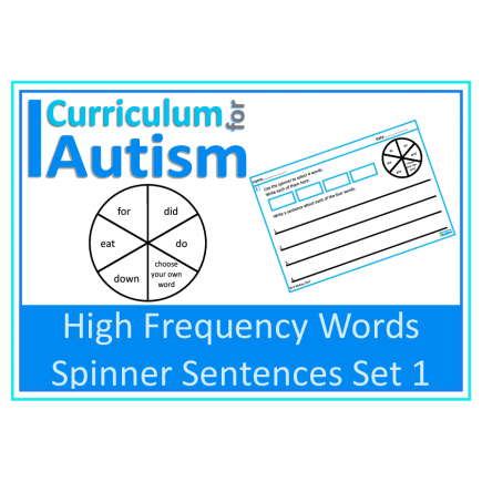 Writing Sentences High Frequency Words (Set 1)