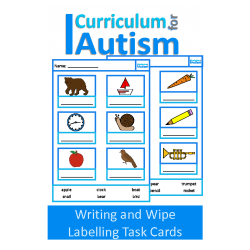 Vocabulary Labelling Write and Wipe Task Cards