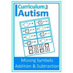 Missing Symbols Add & Subtract Task Boards