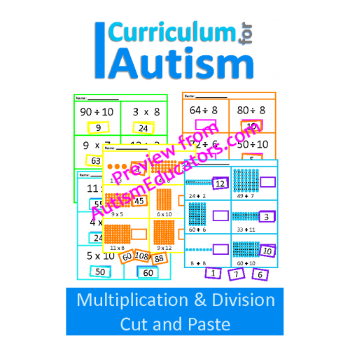and Division Cut Paste Math Worksheets – Cut and Paste Math Worksheets