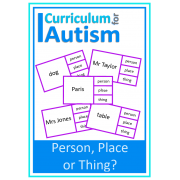 Nouns- Person, Place or Thing? Clip Cards