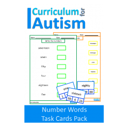 Number Words Clip Cards and Worksheets