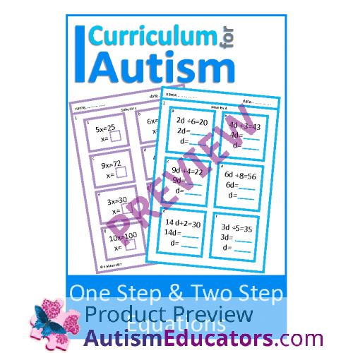 One Step Two Step Equations Worksheets With Scaffolding