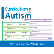 Past Tense Verbs Worksheets, No Prep