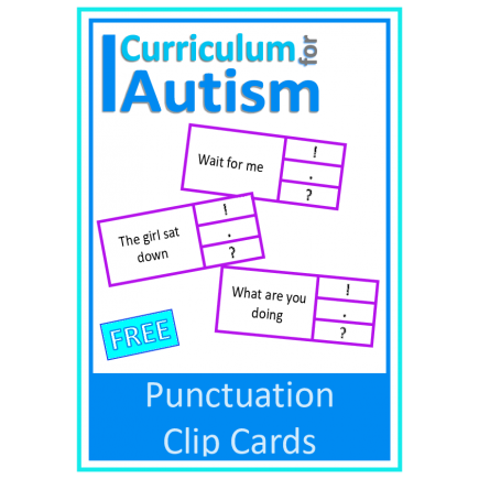 FREE Punctuation Clip Cards