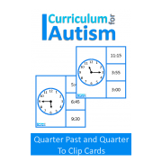 Telling Time Quarter Past and Quarter To Clip Cards