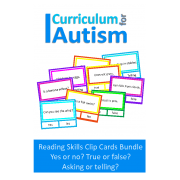 Reading Skills Cards Bundle Yes/No, True/False, Ask/Tell