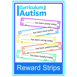 Reward Strips Autism Positive Behavior Back to School