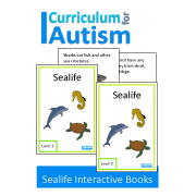 Ocean Animals Sealife Interactive Adapted Biology Book, Autism